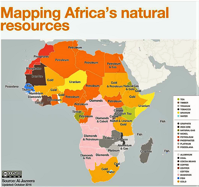 Updated Map Of Africa's Natural Resources
