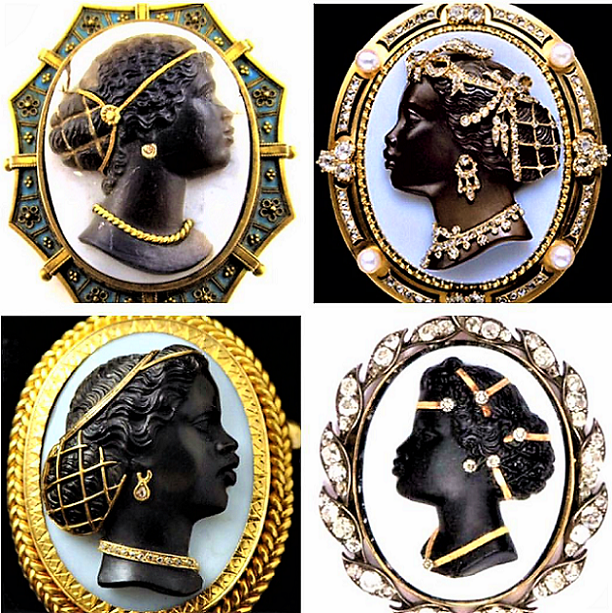 Beautiful brooches of African women during medieval times?