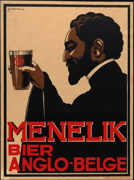 Menelik Beer Ad From Belgium, Europe