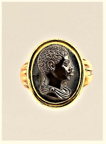 Italian Gold Ring Depicting An African Boy?