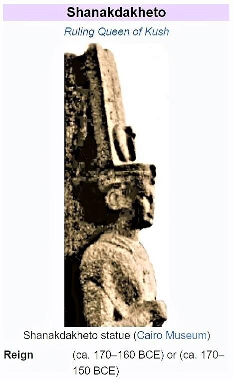 Another Ruling Queen: Shanakdakhete of the Kush Kingdom