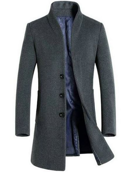 Men's Long Wool Coat